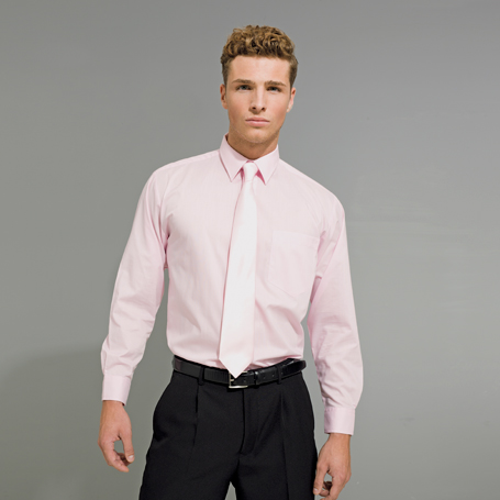 Mens Long Sleeve Poplin Shirt