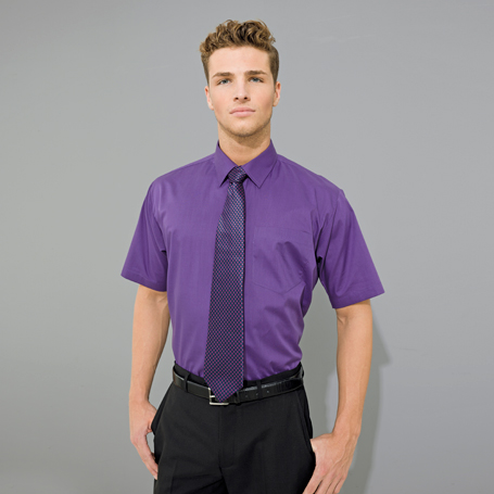 Mens Short Sleeved Poplin Shirt