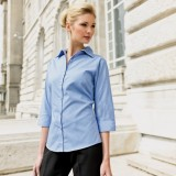 Ladies 3/4 sleeve poplin shirts