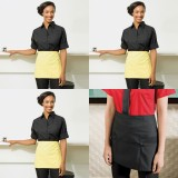 Womens Barwear Set 3 - Three Roll Sleeve Poplin Shirts & one Apron