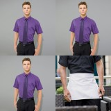 Mens Barwear Set 1 - Three Short Sleeved Poplin Shirt and one apron